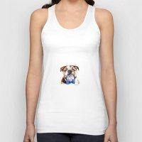 bulldog Tank Tops featuring bulldog by Heathercook