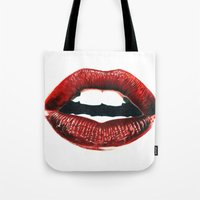 lips Tote Bags featuring Lips by Nester Formentera