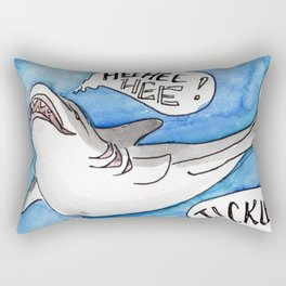 Shark Tickles Rectangular Pillow