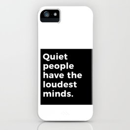 Funny design Gift for Introverts, Thinkers and Great minds iPhone Case