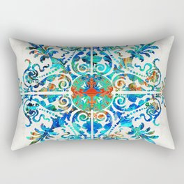 Colorful Pattern Art - Color Fusion Design 5 By Sharon Cummings Rectangular Pillow