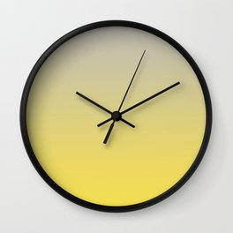 Gradient Blend Pantone 2021 Color of the Year Illuminating 13-0647 Yellow and Lead Crystal Gray Wall Clock