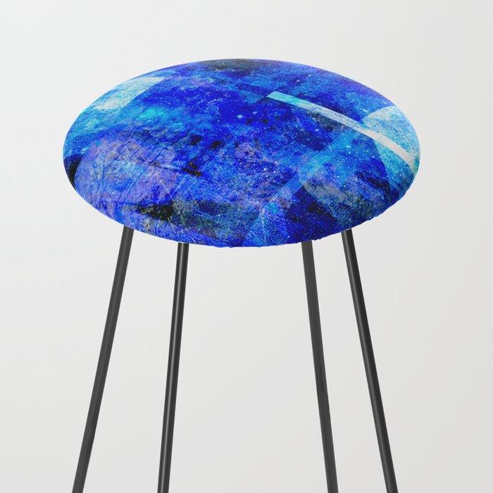 Sapphire Nebulæ Counter Stool