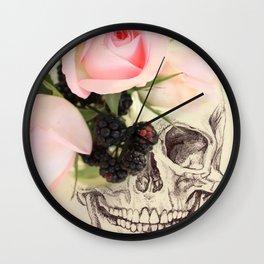 roses and blackberries Wall Clock