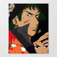 cowboy bebop Canvas Prints featuring Cowboy Bebop Shuffle by Oda Oda
