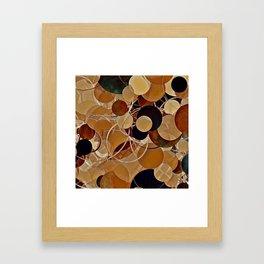 Autumn Bubbles Pattern Framed Art Print