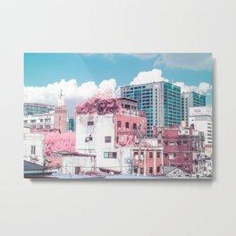 Pink and Blue Seoul Metal Print
