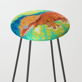 Red Crested Gecko Counter Stool