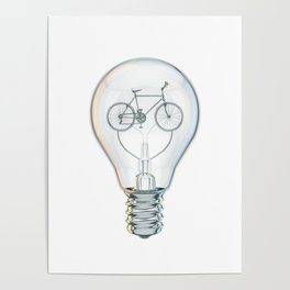 Light Bicycle Bulb Poster