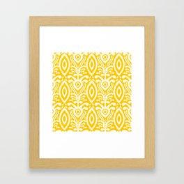 Yellow Ikat Pattern Framed Art Print