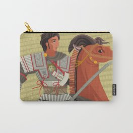alexander the great mosaic riding a horse Carry-All Pouch
