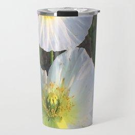 Zen White Flowers Travel Mug