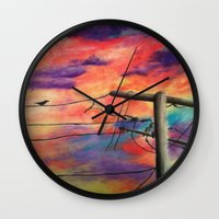 lonely Wall Clocks featuring Lonely by Erin Keating