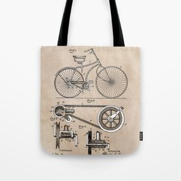 patent Bicycle 1890 Rice Tote Bag