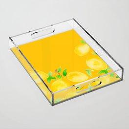 Lemons on Mustard Yellow Acrylic Tray