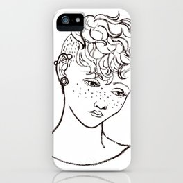 Young girl head iPhone Case