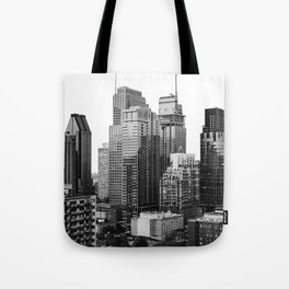 Montreal Québec, Canada City Skyline Downtown Tote Bag