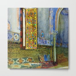 Near-Eastern Palace Interior Portrait by Louis Comfort Tiffany Metal Print