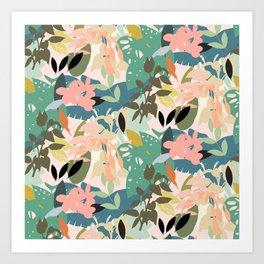 Tropicana Pastel Art Print