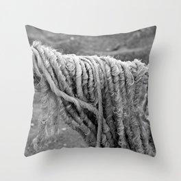 Cotton Textures Throw Pillow