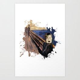 Screaming Alone Art Print