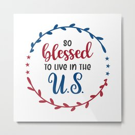4th of july, patriotic independence day Metal Print