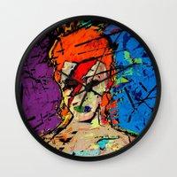 1975 Wall Clocks featuring David Bowie. A Lad Insane by brett66