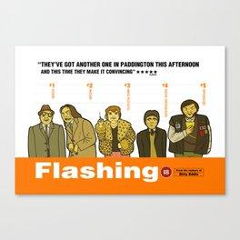 FLASHING Canvas Print