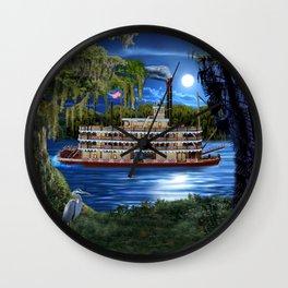 Mystcal Moonlight Cruise Down the Bayou Wall Clock