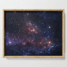 Stars and Nebula Serving Tray