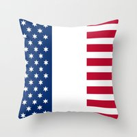 france Throw Pillows featuring france by ovisum