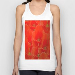 Red Poppies  Unisex Tank Top
