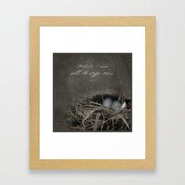 New Beginings~ nest Framed Art Print