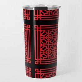 PATTERN ART05-1-Red Travel Mug