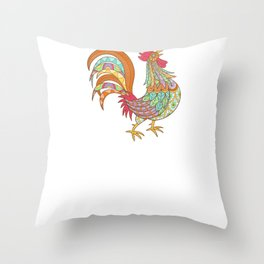 Life Is Better With Chickens Around Funny Animals Throw Pillow