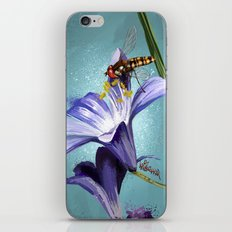 Wasp on flower 11 iPhone & iPod Skin