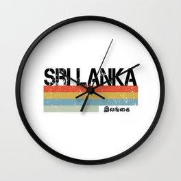 Sri Lanka Graphic Wall Clock