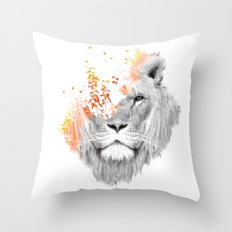 If I roar (The King Lion) Throw Pillow