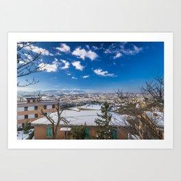 Valley Of Snow Art Print