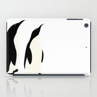 penguins iPad Cases featuring Penguins by Rceeh