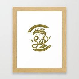 Here Comes The Son (Golden Boy Version) Framed Art Print