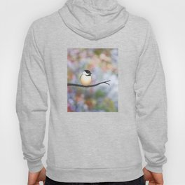 black capped chickadee on a branch Hoody