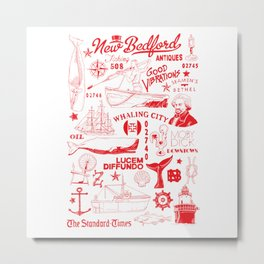 New Bedford Massachusetts Print Metal Print