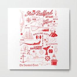 New Bedford Massachusetts Print Metal Print