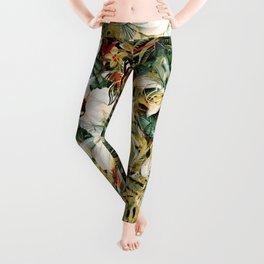 Seamless Floral Pattern Leggings