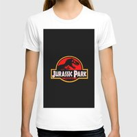 jurassic park T-shirts featuring Jurassic Park by MrWhite