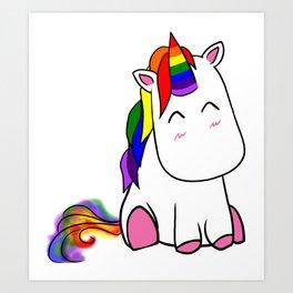 Lenny the Unicorn Art Print