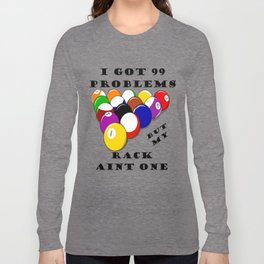 8 Ball or Billiards Humor Long Sleeve T-shirt