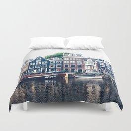 Street in Amsterdam Duvet Cover