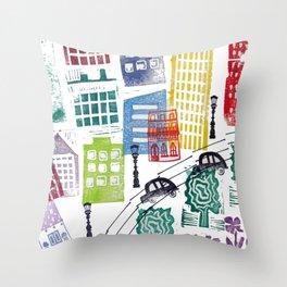 City Building Throw Pillow